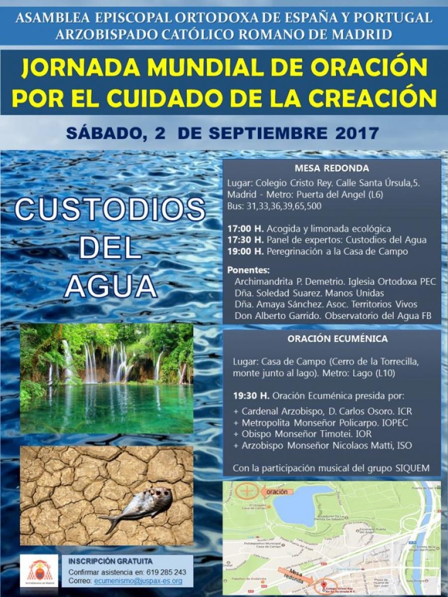 Jornada Mundial de Oración para el cuidado de la Creación 2017 - Custodios del agua