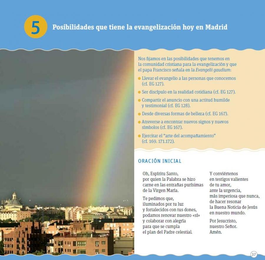 Fichas de trabajo para el Núcleo 5º: Posibilidades que tiene la evangelización hoy en Madrid