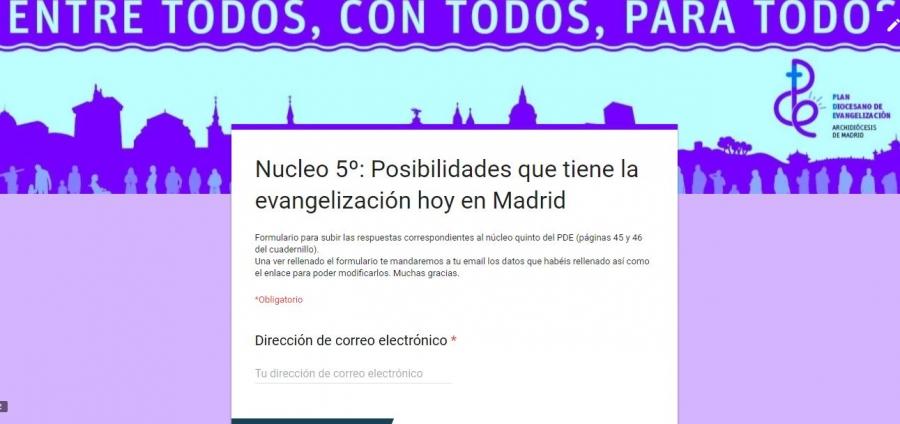 ENLACES PARA ACCEDER A LOS FORMULARIOS DE LOS NÚCLEOS DEL AÑO 2